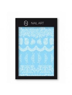 Nail Frame - Water Decals n.1 Fehér
