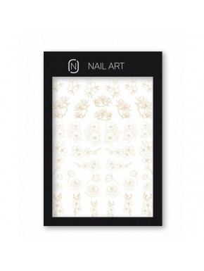 Nail Frame - Water Decals n.2 Bézs